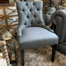 Charcoal Tufted Side Chair