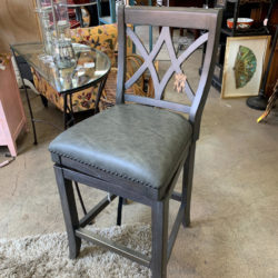 Grey Cross Back Bar Stool
