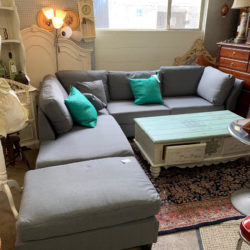 Grey Sectional With Ottoman