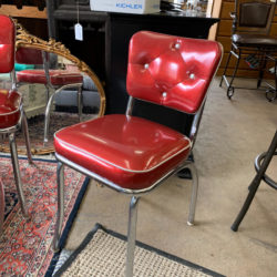 Vintage Red Vinyl Chair