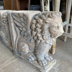 Cement Winged Lion
