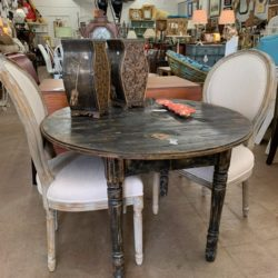 Distressed Round Table