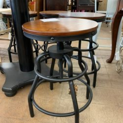Adjustable Industrial Bar Stool