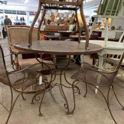 Round Iron Patio Table